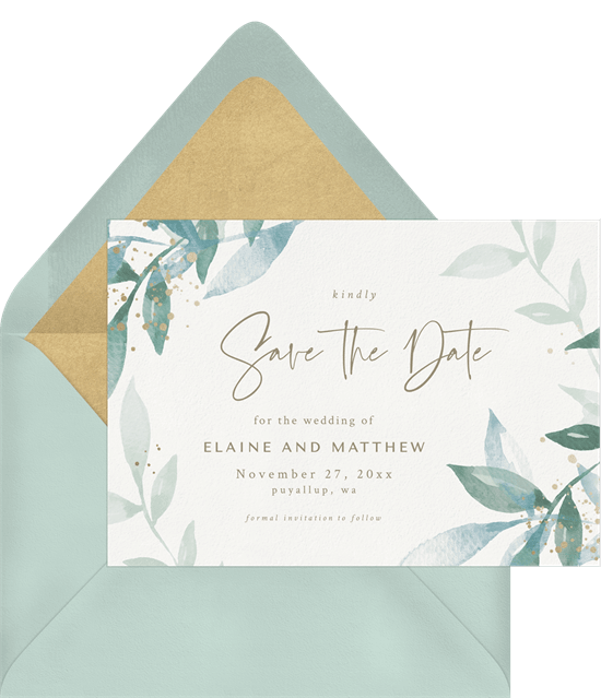 Whimsical Watercolor Save the Date template