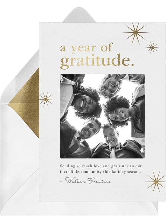 Year Of Gratitude Card