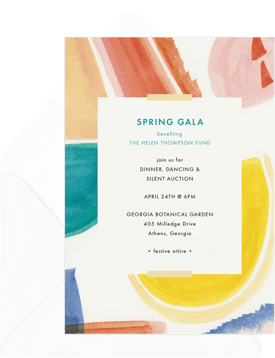 A corporate event invitation for a Spring gala