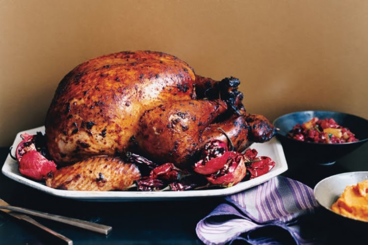 Non-traditional thanksgiving dinner ideas: Adobo turkey with red chile gravy