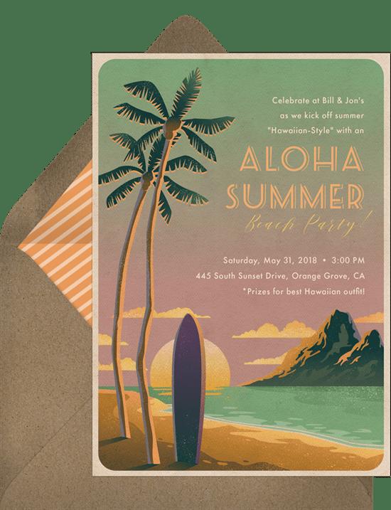 luau party: Aloha Waikiki Invitation from Greenvelope