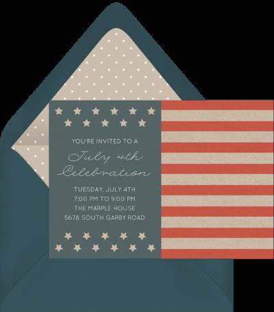 Americana Flag Invitation by Greenvelope