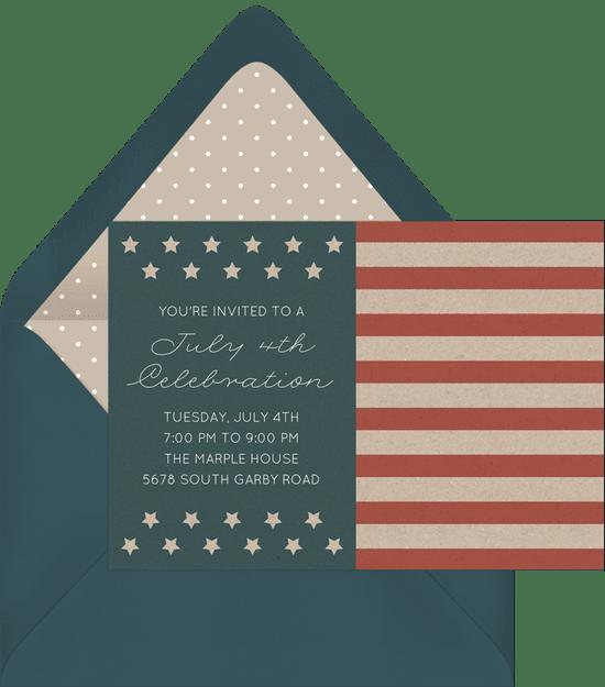 Eagle Scout Invitations: americana flag invitation