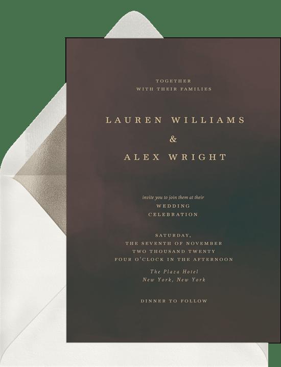 fall wedding invitations: Autumn Nights Invitation from Greenvelope