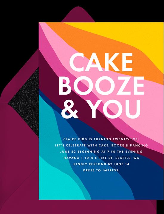 celebrating Pride: Pride themed bake-off or cook-off invitation from Greenvelope