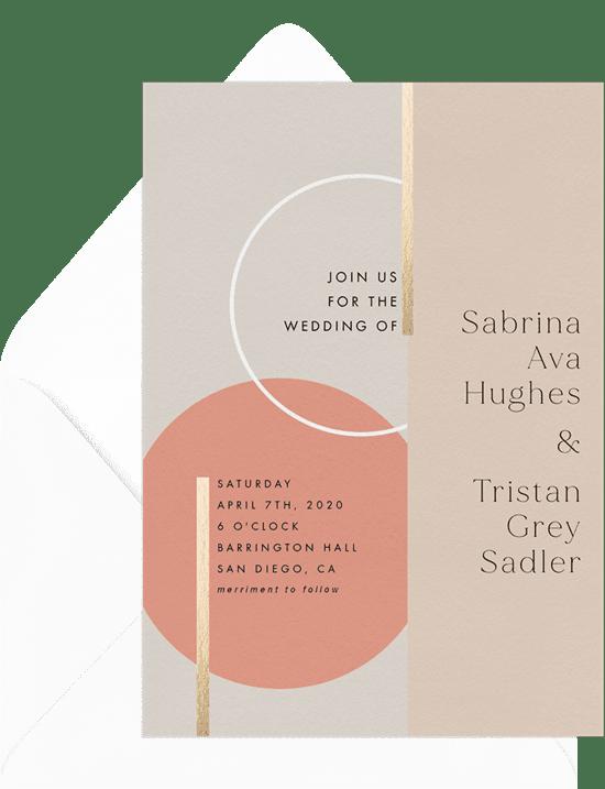 DIY Wedding Invitations: Bauhaus Shapes Invitation