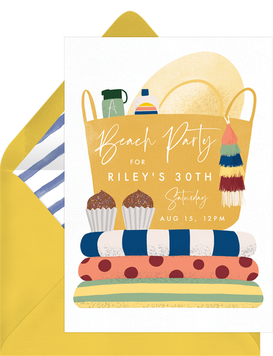 summer party ideas: beach party invitation from Greenvelope