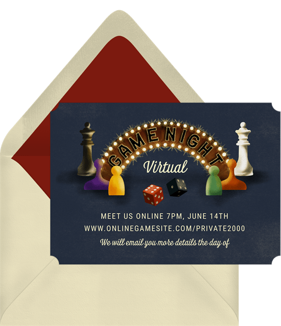 board game party invitation from Greenvelope