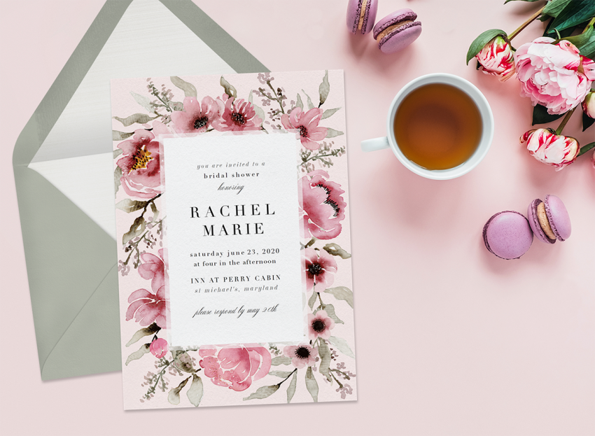 Celebrate a Lifetime of Love With These 12 Bridal Shower Invitations