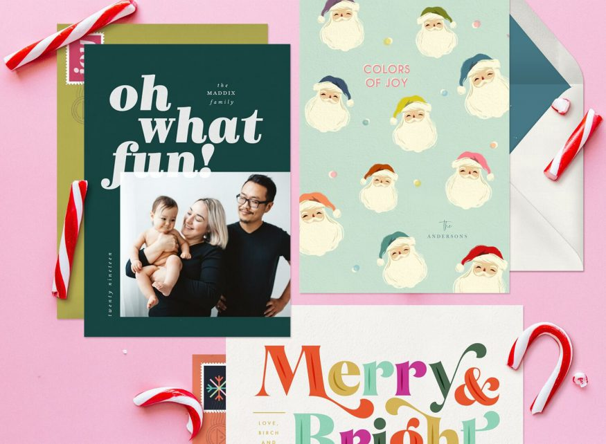 Cards with holiday greetings