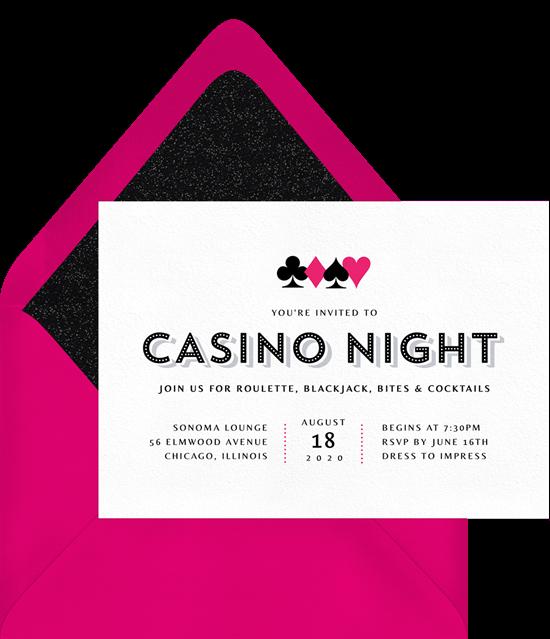 Casino Night Invitation from Greenvelope