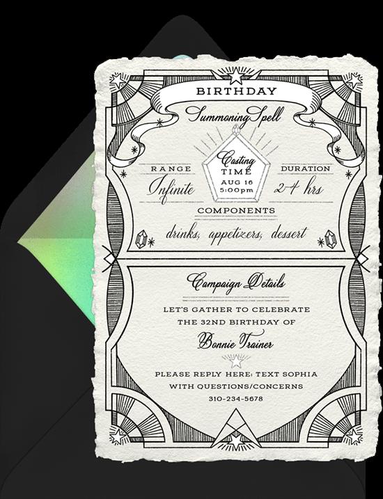 Cast A Spell Invitation from Greenvelope