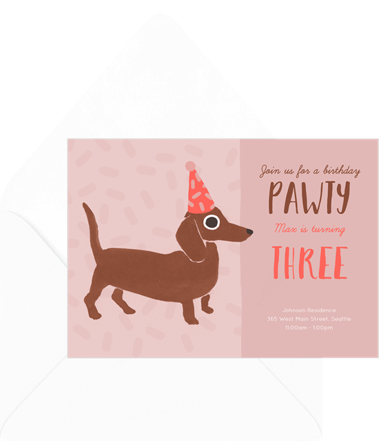 Let's Pawty Invitation by Greenvelope