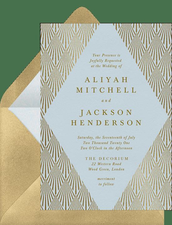 Art Deco wedding invitation: Deco Diamond Invitation from Greenvelope