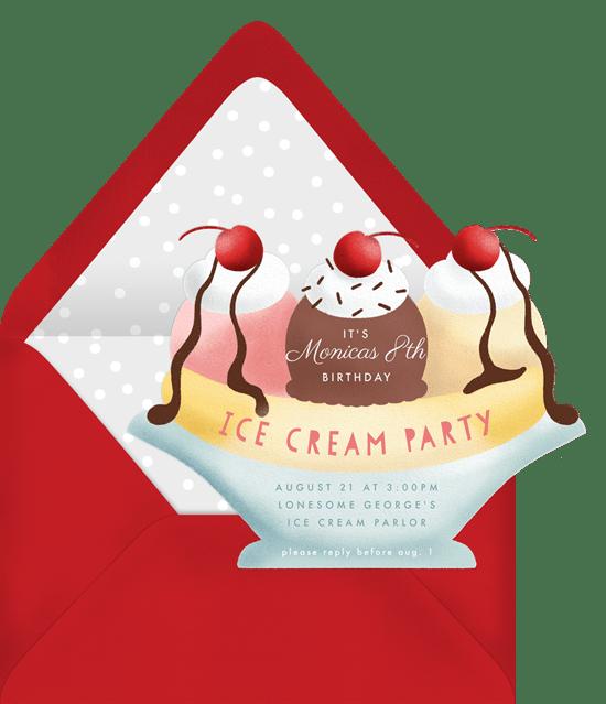 dessert night party invitation from Greenvelope