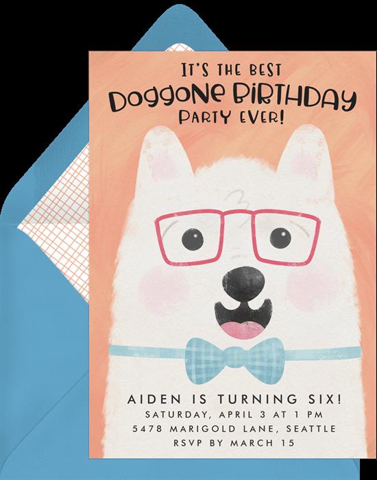 dog birthday party: Doggone Birthday Invitation by Greenvelope