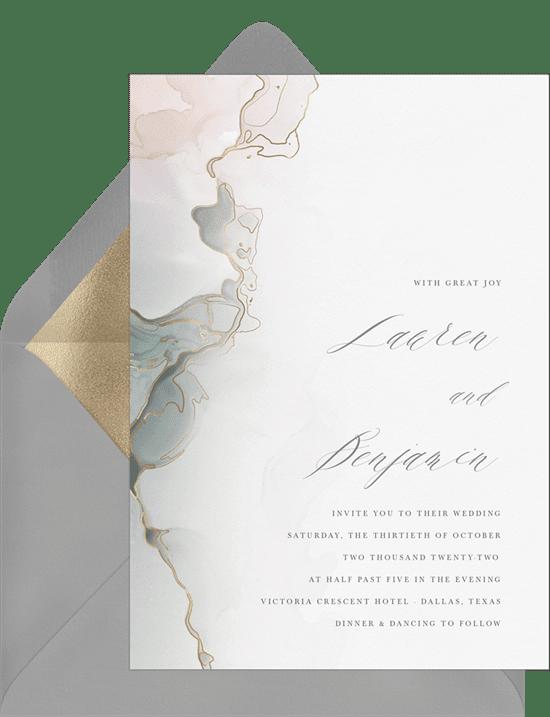 DIY Wedding Invitation: Ethereal Mist Invitation
