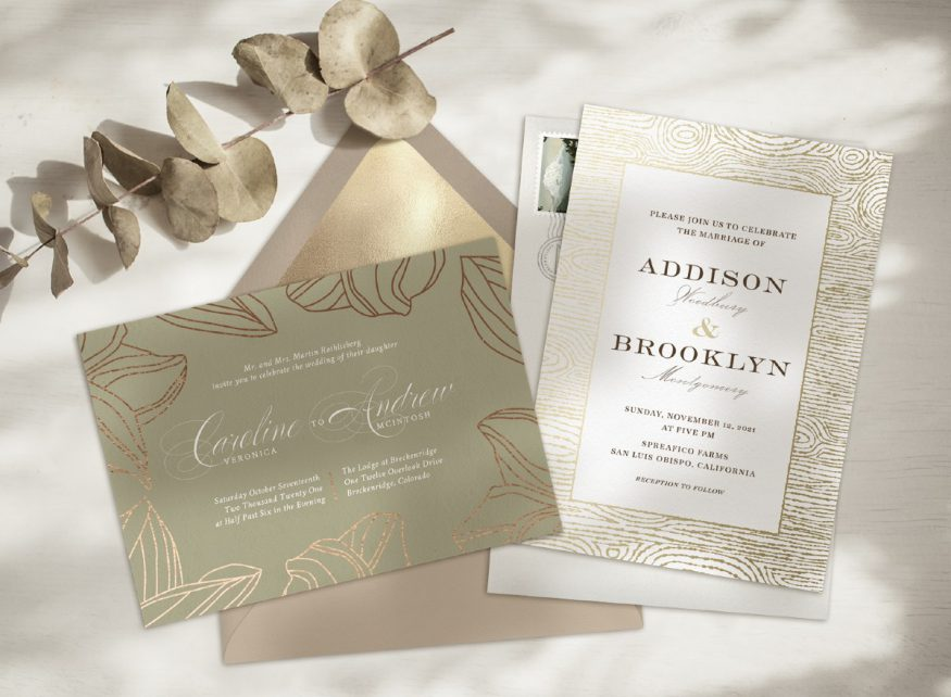 fall wedding invitations from Greenvelope