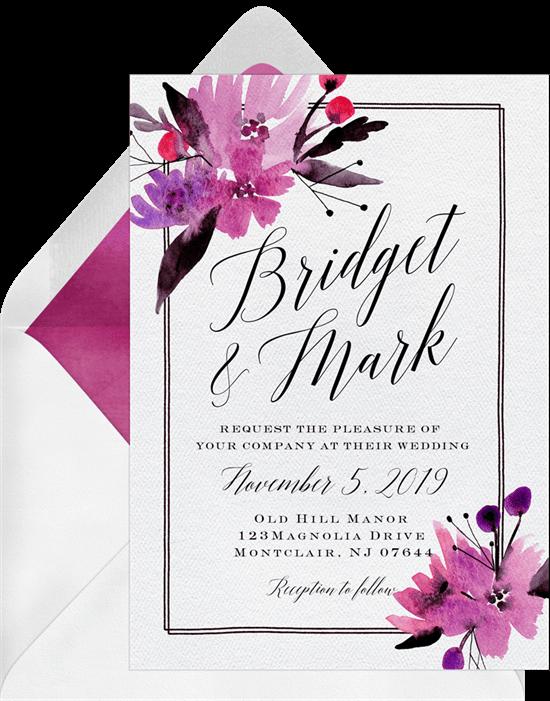 fall wedding ideas: Fall Wedding invitations from Greenvelope