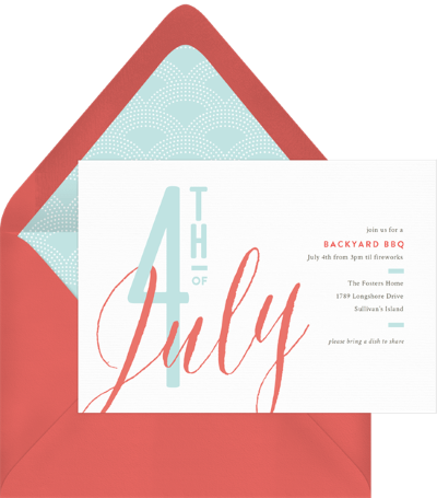 4th of July party invitations: Festive July Invitation by Greenvelope