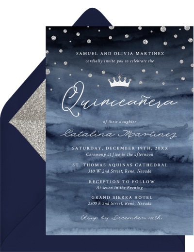 quinceanera gifts: For a Princess Invitation by Greenvelope