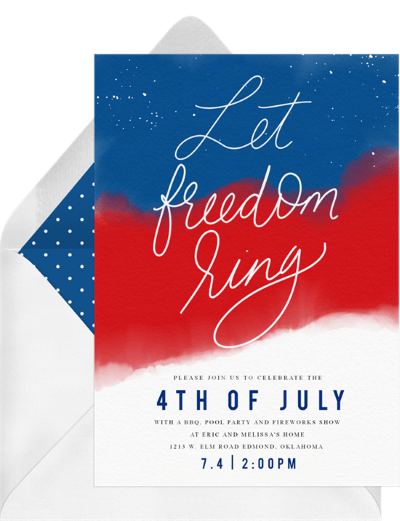 4th of July party invitations: Freedom Ring Invitation by Greenvelope
