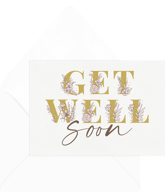 get well soon cards: Get Well Flowers Card from Greenvelope