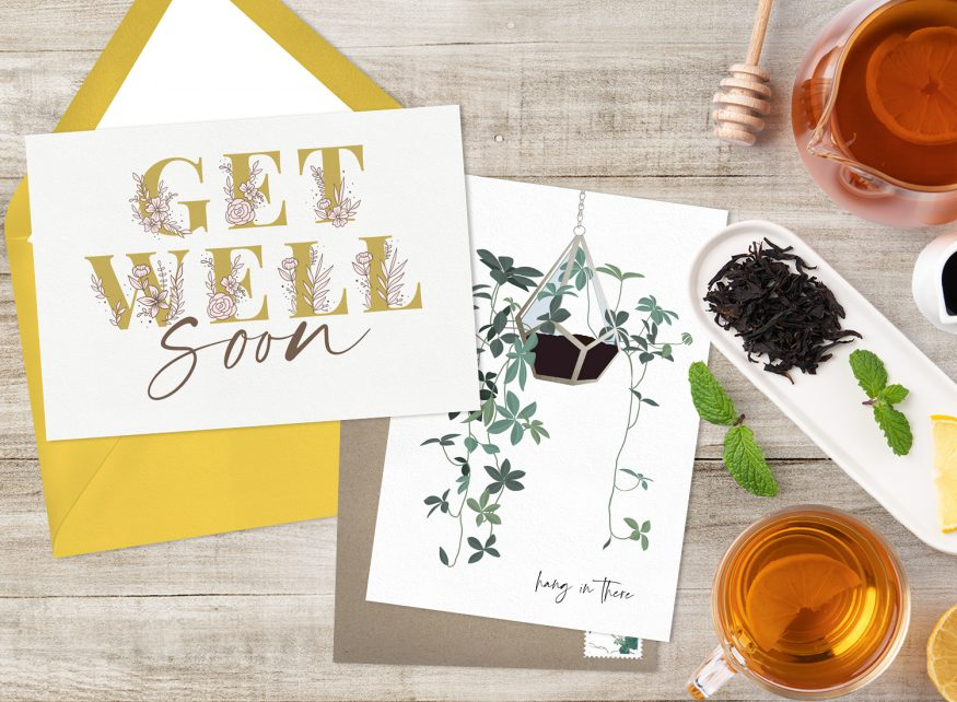 get well soon cards sample from Greenvelope