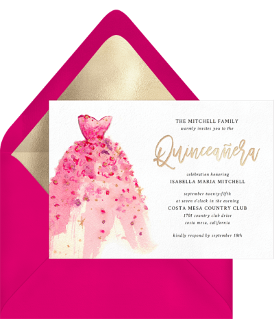 Girly Gown Invitation by Greenvelope