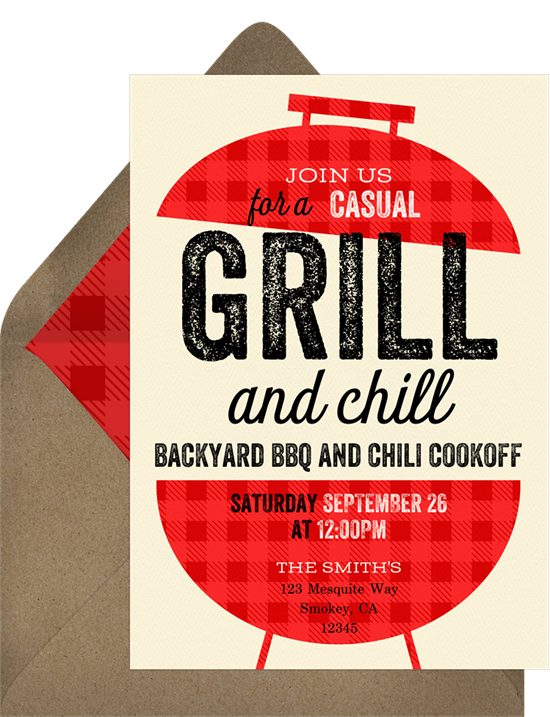 4th of July party ideas: BBQ grill invitation from Greenvelope