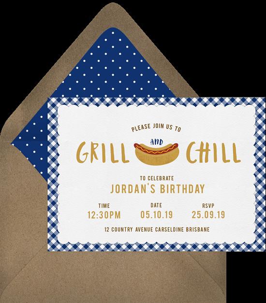 summer party ideas: backyard BBQ invitation from Greenvelope
