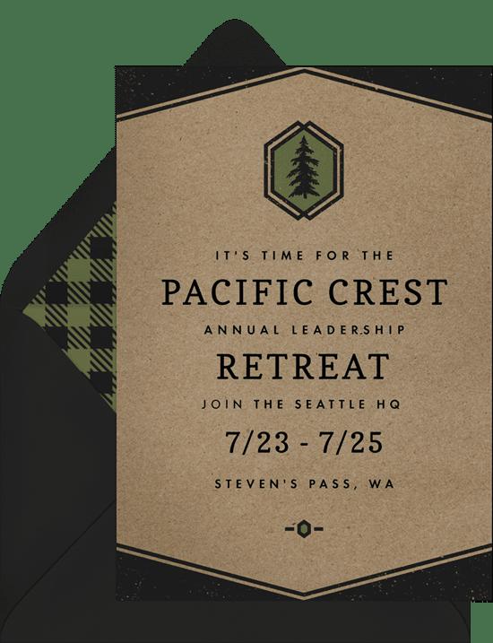 Eagle scout invitations: hip rustic invitations