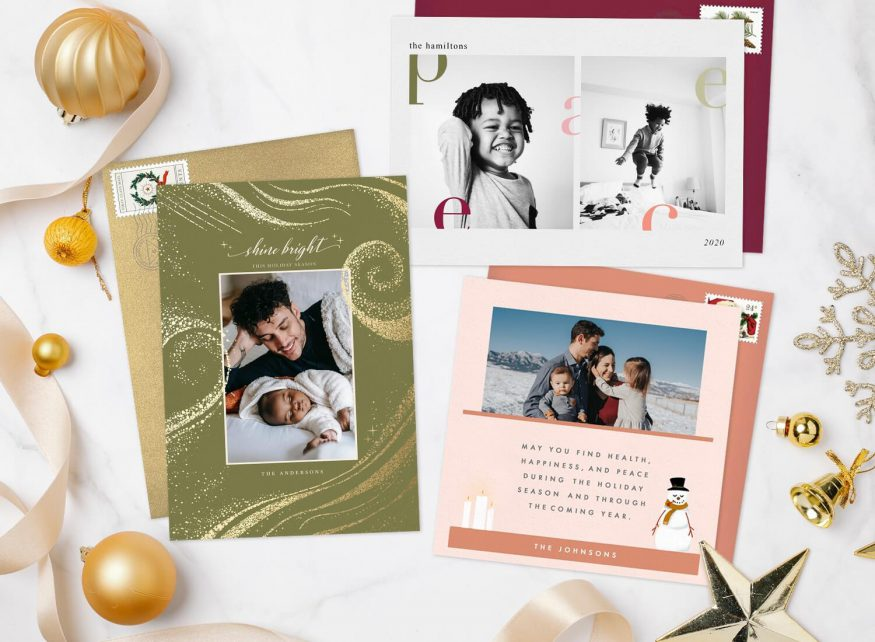 Photo holiday cards examples