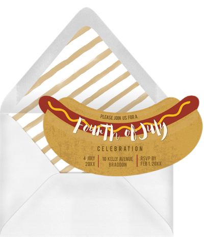 4th of July party invitations: Hot Dog, it's a BBQ! Invitation by Greenvelope