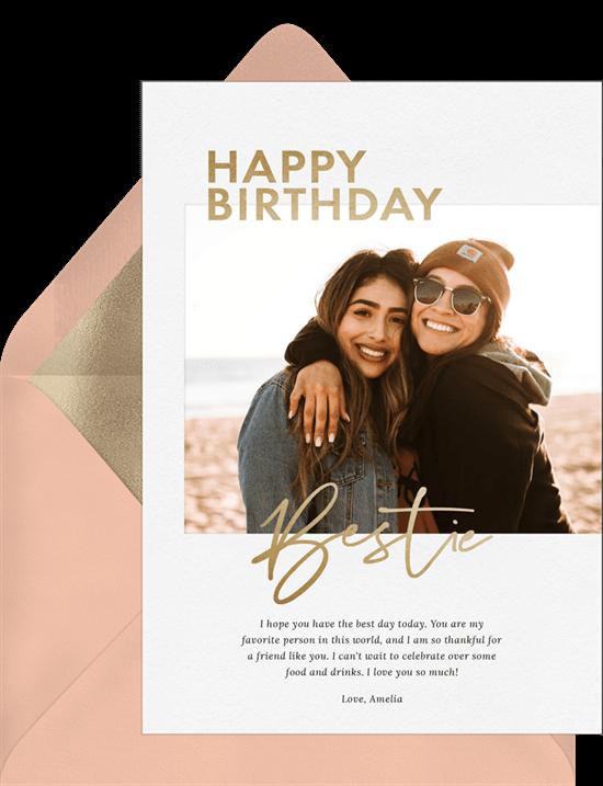Birthday Bestie Card by Greenvelope