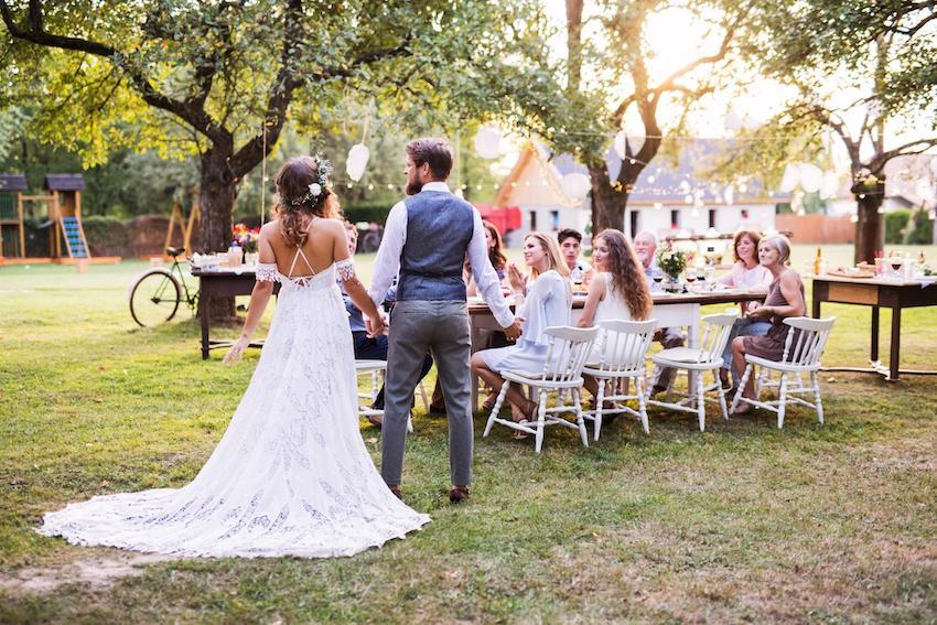 Micro Wedding: married couple standing