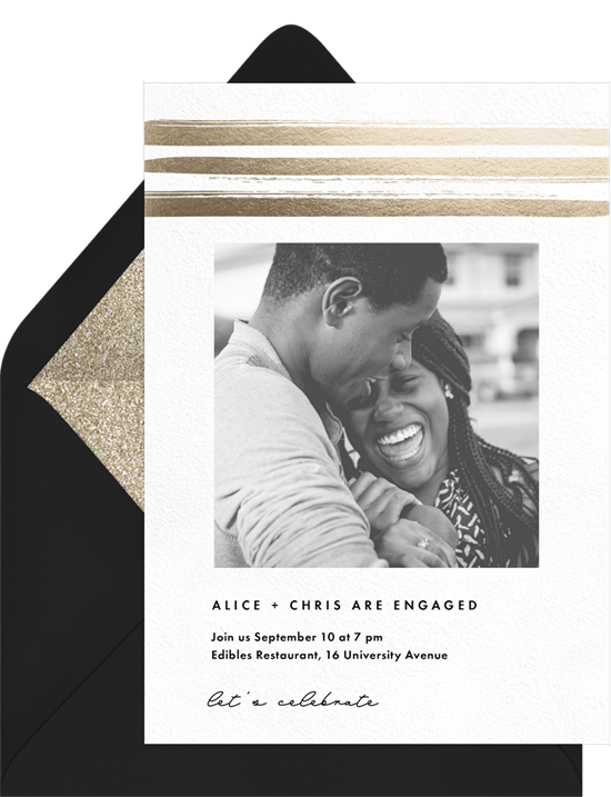 Engagement Bands Invitation by Greenvelope