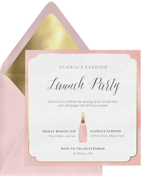 Champagne Accent Invitation by Greenvelope