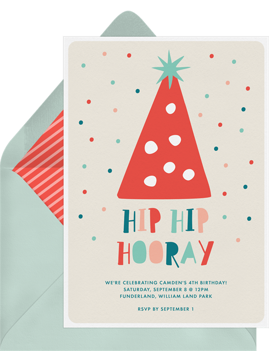 DIY party decorations: Party Hat Invitation by Greenvelope