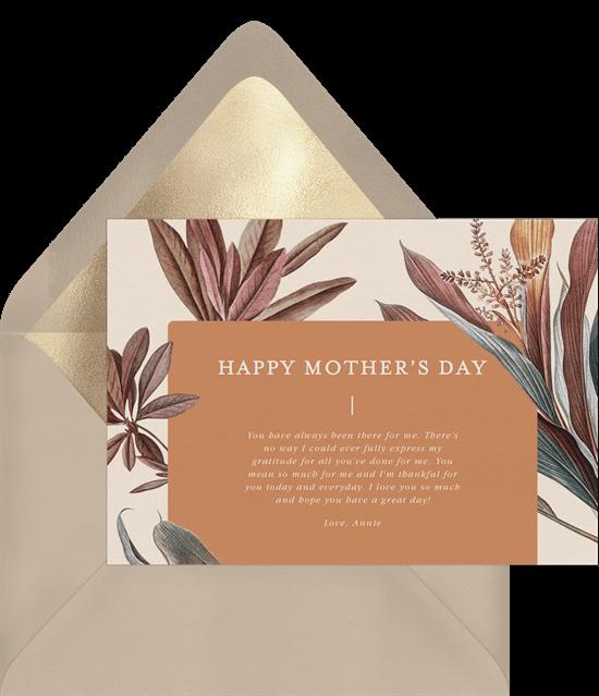 Modern Palm Lily Card