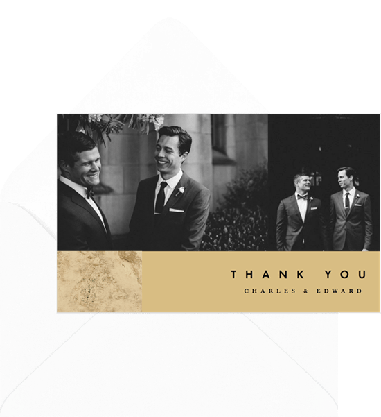 questions to ask wedding photographer: Chic Minimalist Thank You Note by Greenvelope