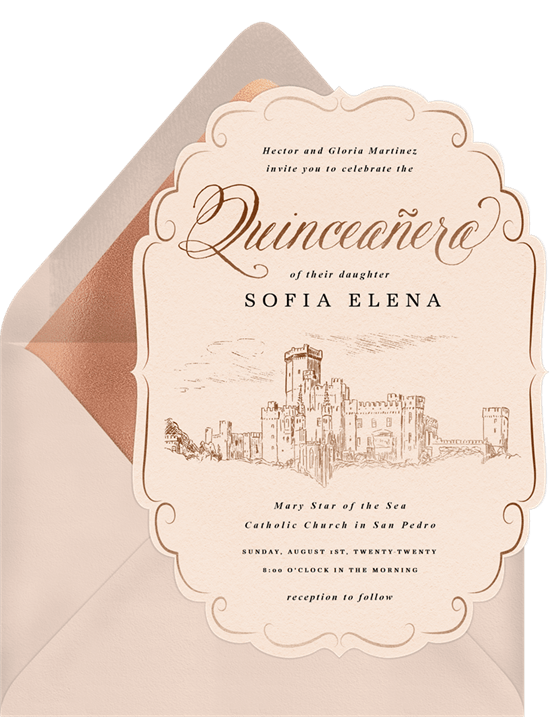 Royal Quinceañera Invitation by Greenvelope