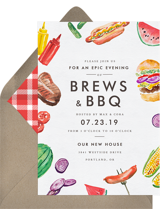 summertime party invitations: Grillin and Chillin Invitation by Greenvelope