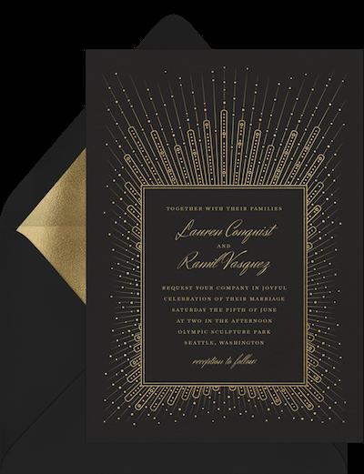 Pearl starburst invitation