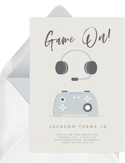 Party theme ideas: Gaming essentials invitation