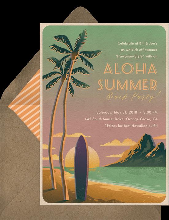 Aloha Waikiki Invitation
