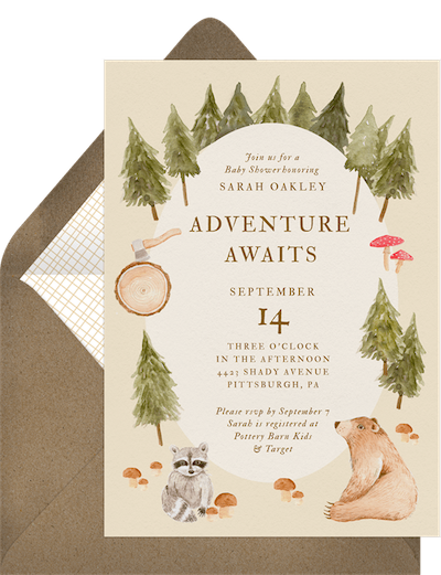 Woodland charm invitation