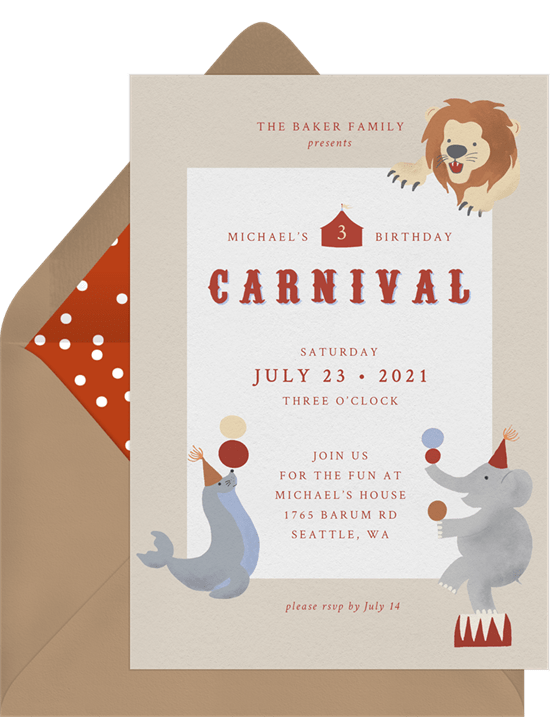 carnival theme party: Classic Carnival Invitation by Greenvelope