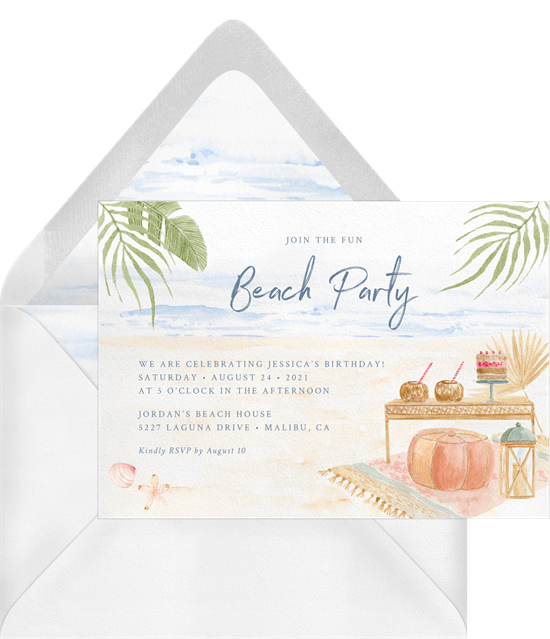 summertime party invitations: Boho Beach Party Invitation by Greenvelope