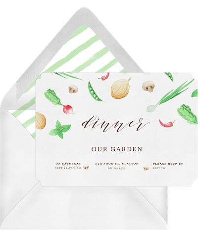Adult party ideas: Dinner party invitation